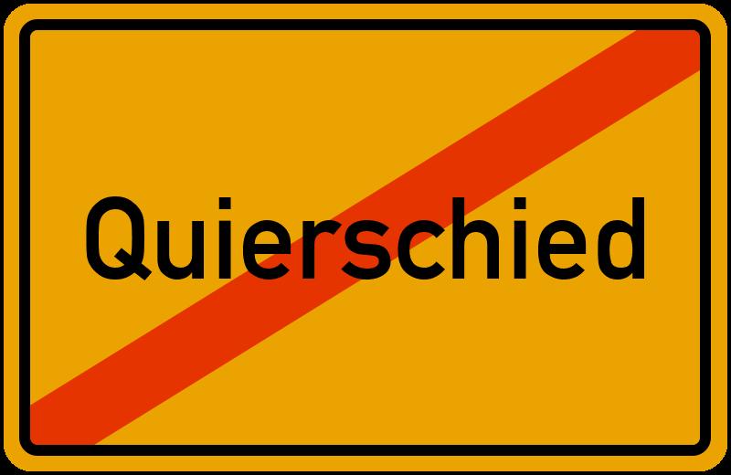 Ortsschild Quierschied