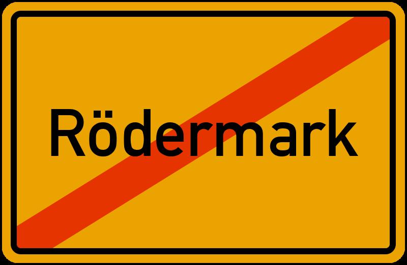 Ortsschild Rödermark
