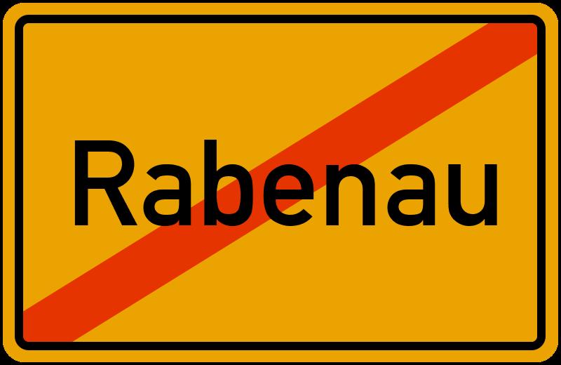 Ortsschild Rabenau