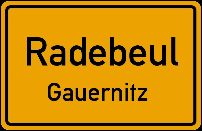 Ortsschild Radebeul
