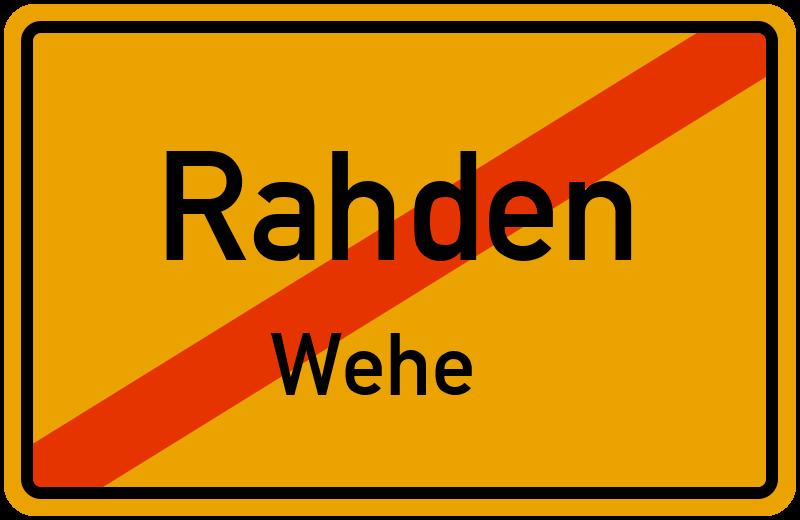 Ortsschild Rahden-Wehe kostenlos: Download & Drucken