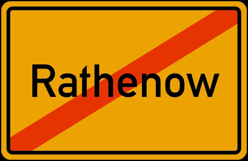Ortsschild Rathenow