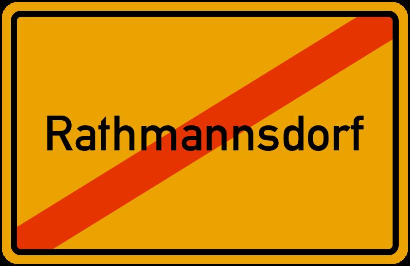 Ortsschild Rathmannsdorf