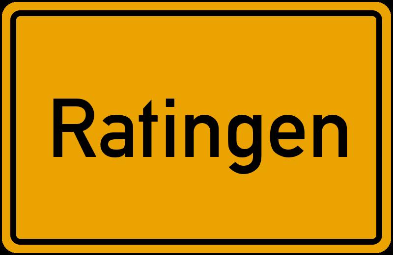 Ortsschild Ratingen