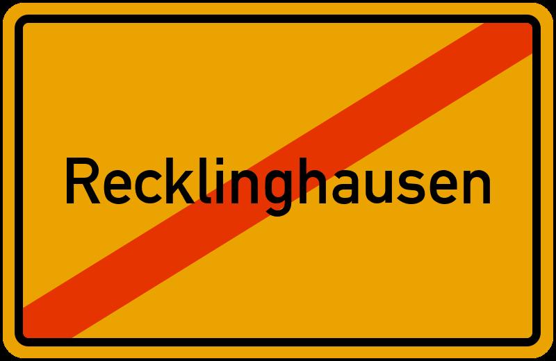 Ortsschild Recklinghausen