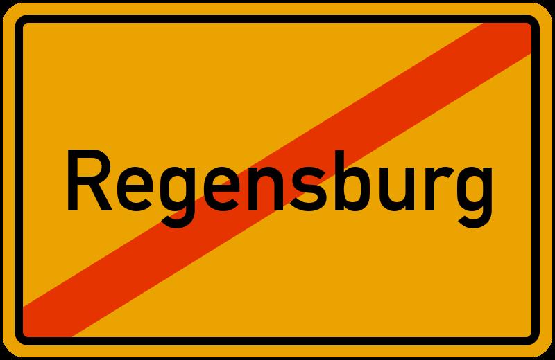 Ortsschild Regensburg