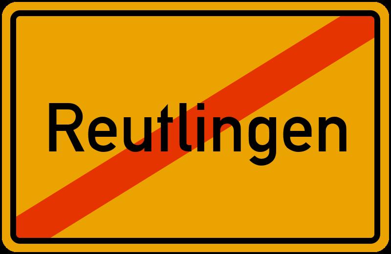 Ortsschild Reutlingen