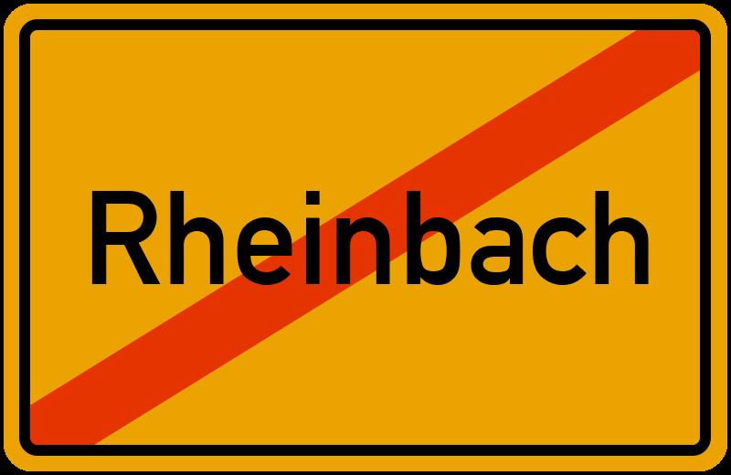 Ortsschild Rheinbach