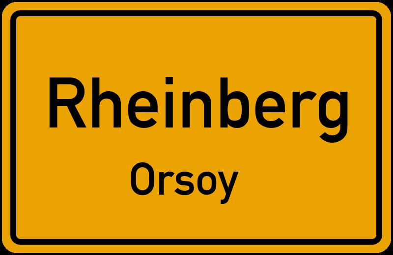 Ortsschild Rheinberg-Orsoy kostenlos: Download & Drucken