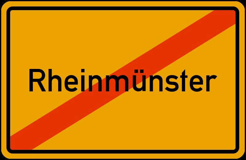 Ortsschild Rheinmünster