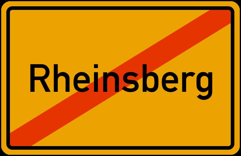 Ortsschild Rheinsberg