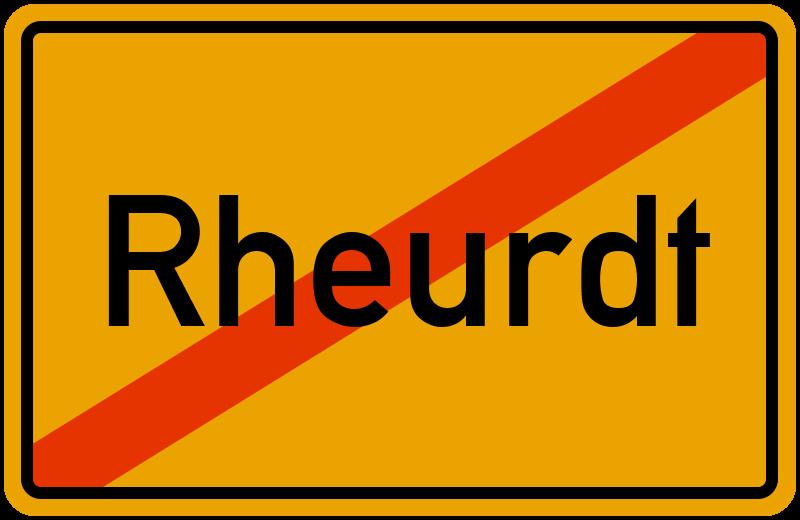 Ortsschild Rheurdt