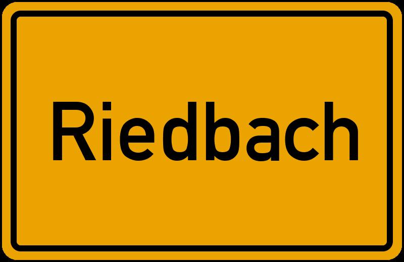 onlinestreet Branchenbuch für Riedbach