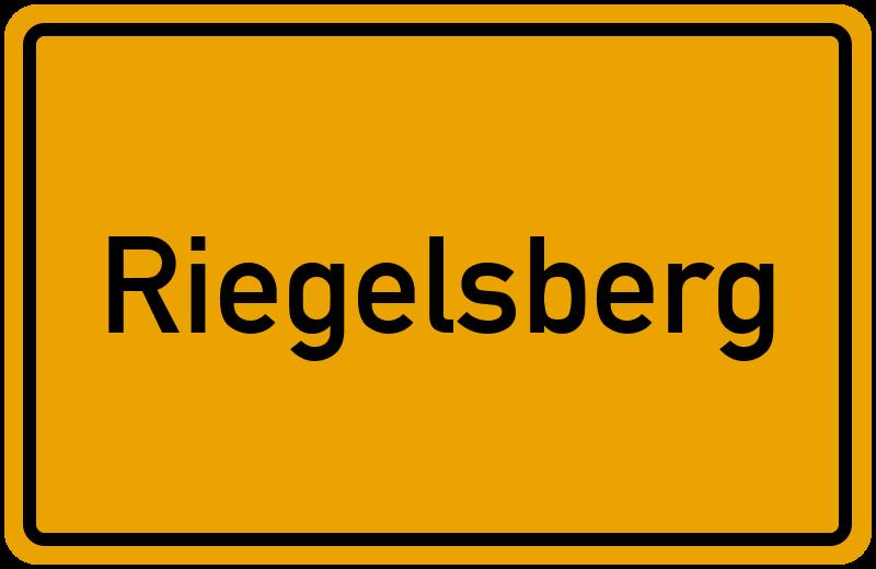 Ortsschild Riegelsberg