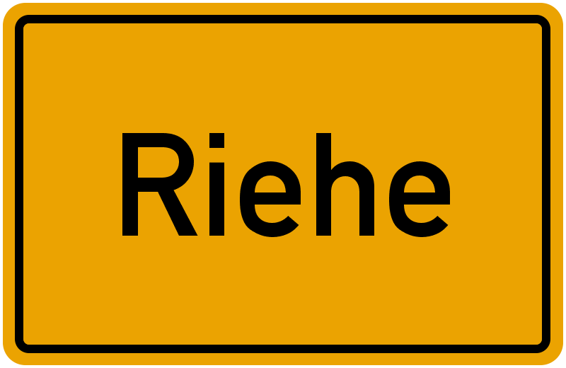 Ortsschild Riehe