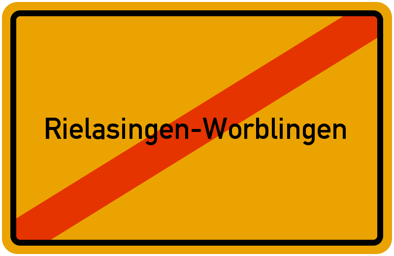 Ortsschild Rielasingen-Worblingen