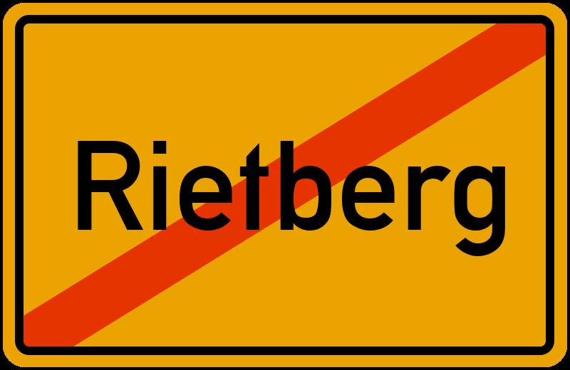 Ortsschild Rietberg