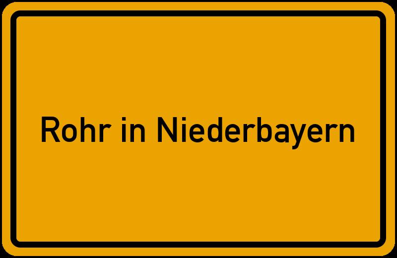 Ortsschild Rohr in Niederbayern