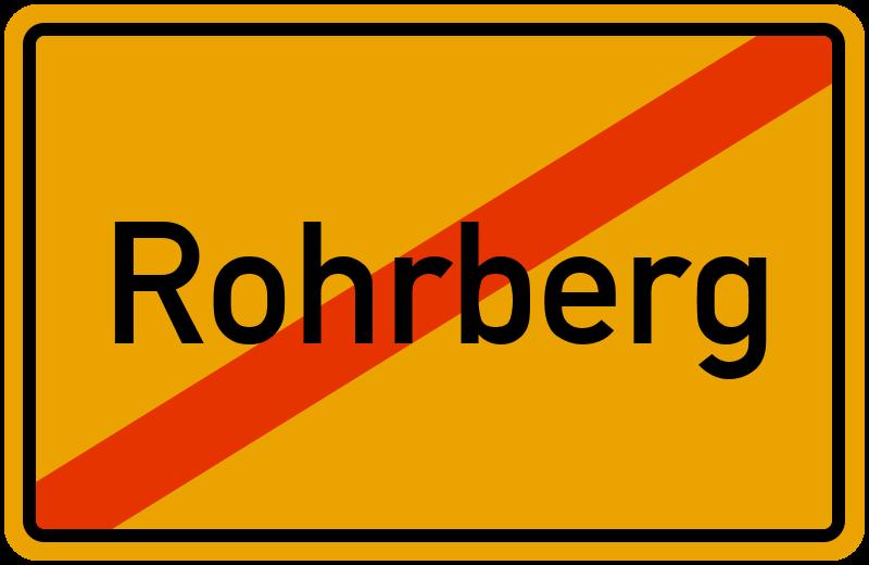 Ortsschild Rohrberg