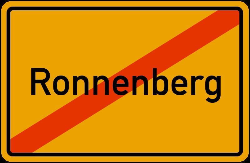 Ortsschild Ronnenberg