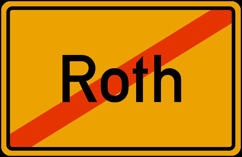 Ortsschild Roth