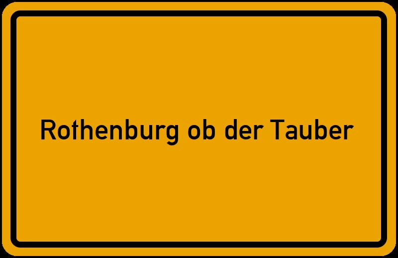 Telefonbuch Rothenburg Ob Der Tauber