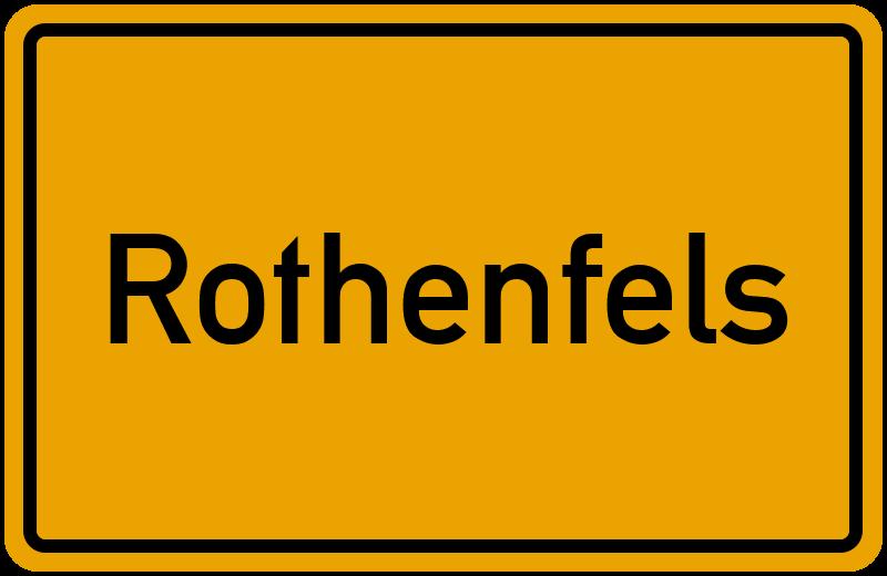 Ortsschild Rothenfels