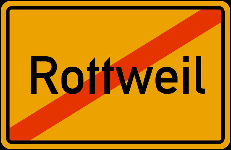 Ortsschild Rottweil