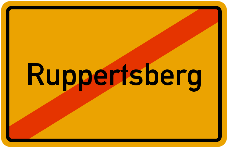 Ortsschild Ruppertsberg