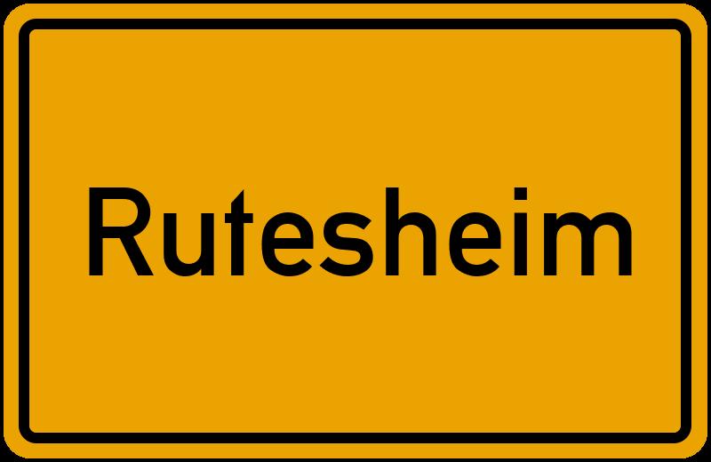 Ortsschild Rutesheim