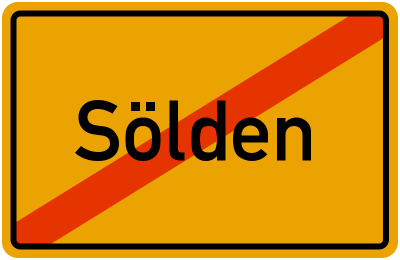 Ortsschild Sölden