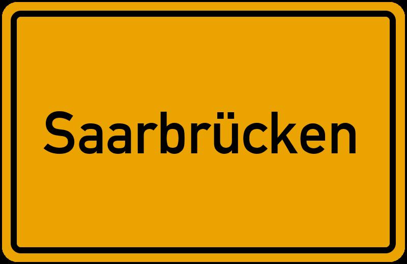 Ortsschild Saarbrücken