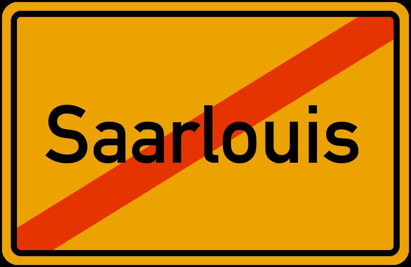 Ortsschild Saarlouis