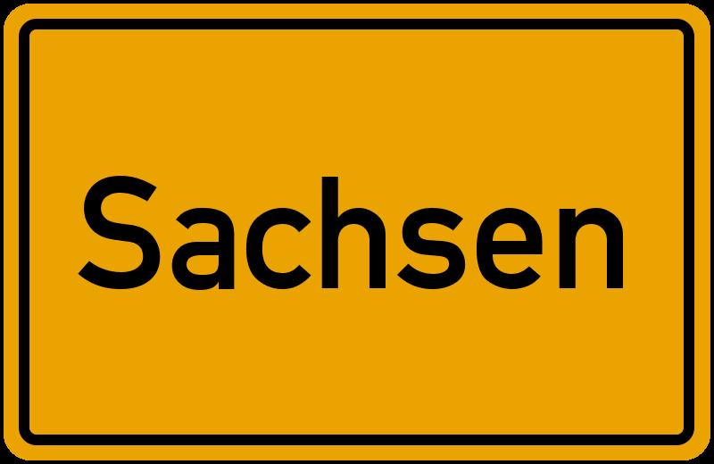 Ortsschild Sachsen