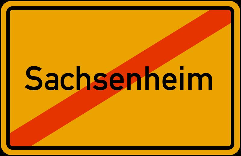 Ortsschild Sachsenheim