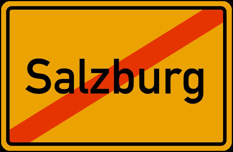 Ortsschild Salzburg