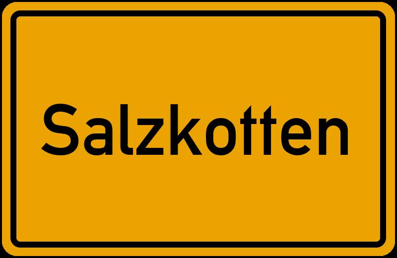 Ortsschild Salzkotten