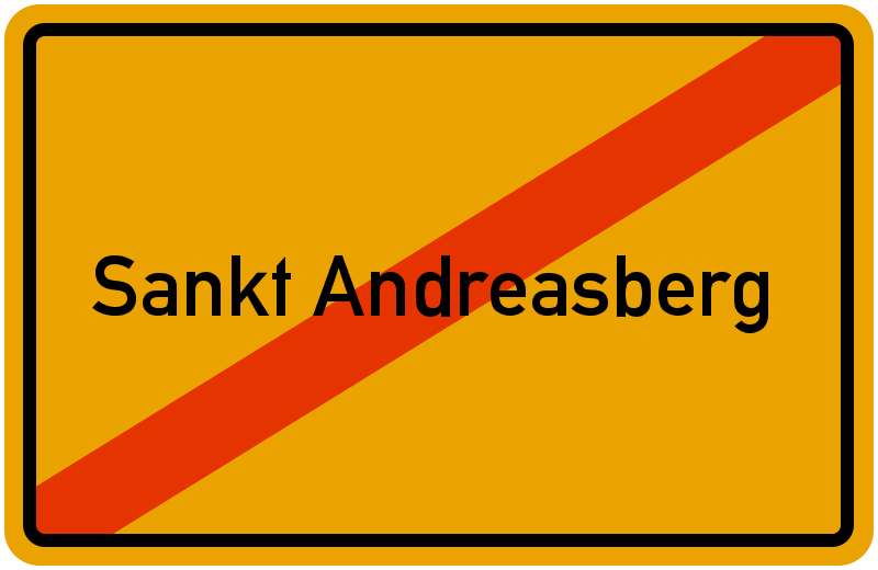 Ortsschild Sankt Andreasberg