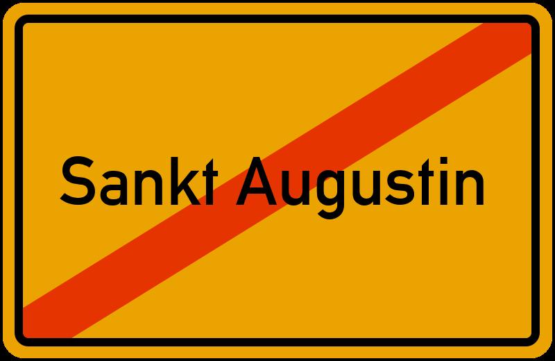Ortsschild Sankt Augustin