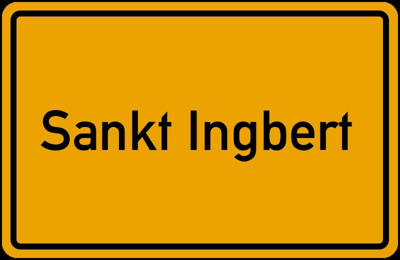 Ortsschild Sankt Ingbert