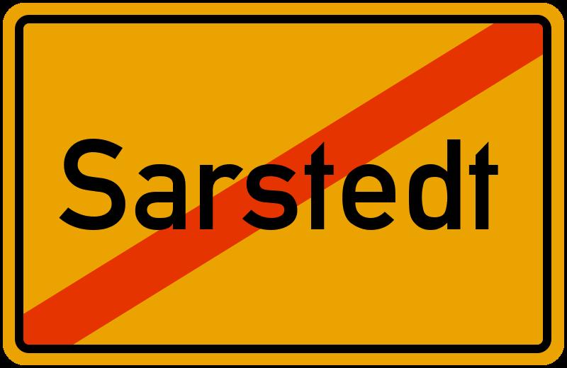 Ortsschild Sarstedt
