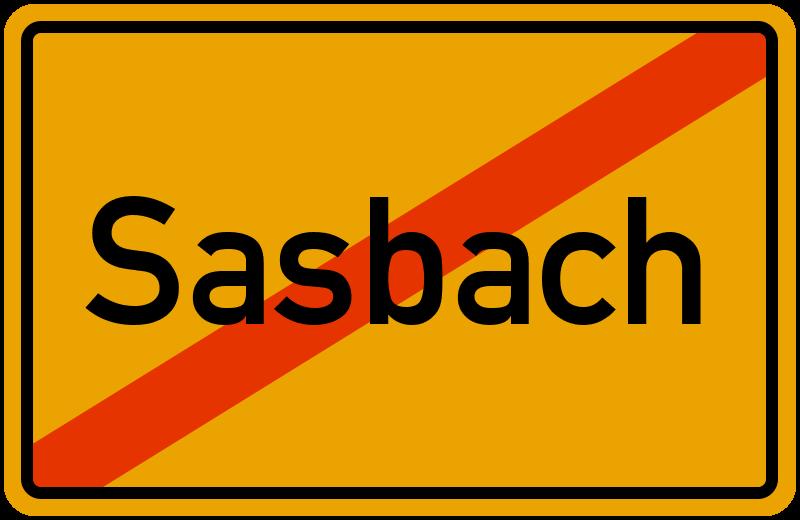 Ortsschild Sasbach