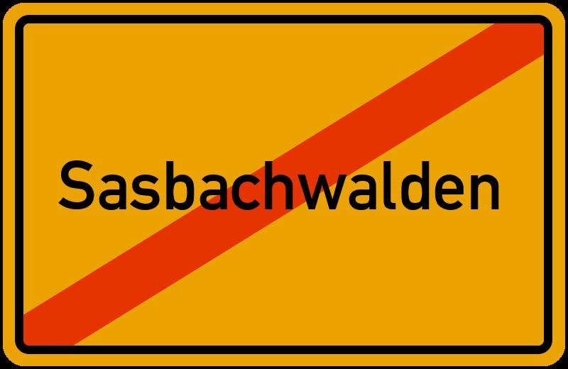 Ortsschild Sasbachwalden