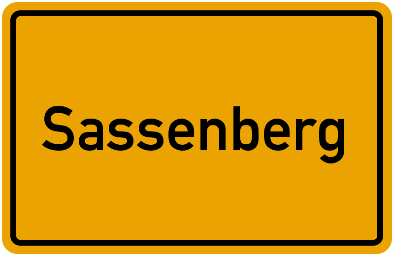 Ortsschild Sassenberg
