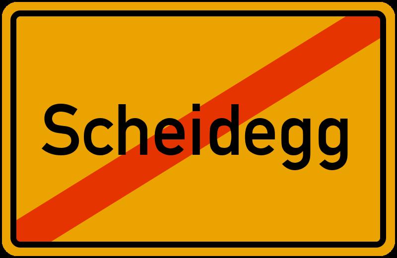 Ortsschild Scheidegg