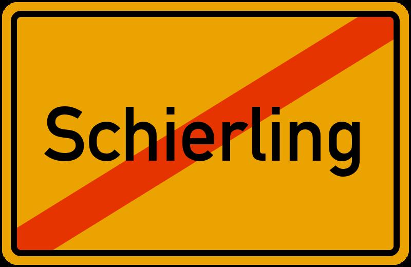 Ortsschild Schierling