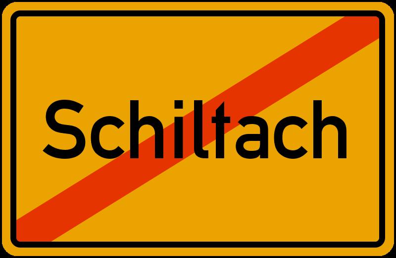 Ortsschild Schiltach