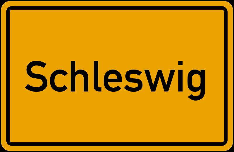 Ortsschild Schleswig