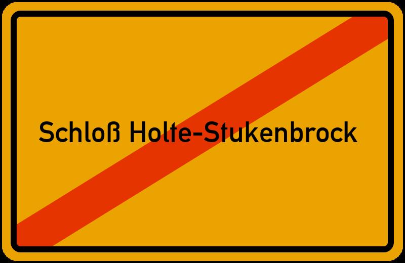 Ortsschild Schloß Holte-Stukenbrock