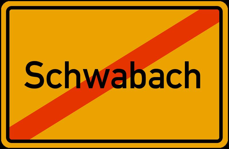 Ortsschild Schwabach